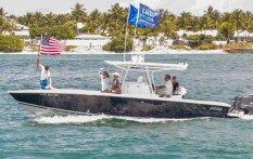An estimated 15 to 20 private, charter and work boats participated in the Boat for Trump event on June 14 in Key West. LARRY BLACKBURN/Keys Weekly