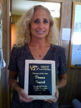 Thus, she was nominated and won BPW's Woman of the Year.  She is also the treasurer of the club.