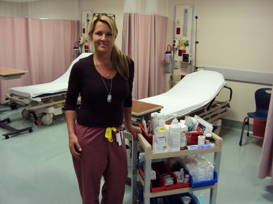 Kim Hutchinson, RN in the expanded ER area which opened just a week ago
