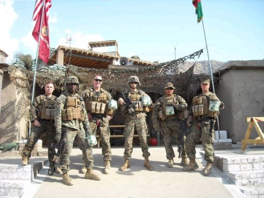 American troops with Arbonne products