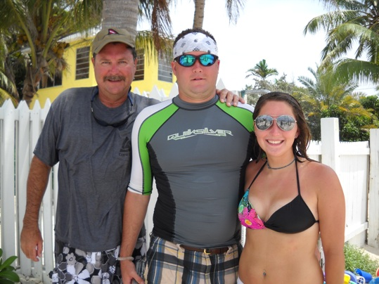 (L-R) David, Matt and Monica Spooner of Corpus Christi, Texas, enjoyed the island jet ski tour so much the first time around, they opted for another whirl around Key West