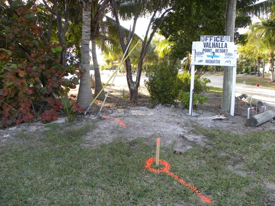 The sliver of property at the end of Ocean Drive is owned by the city, but it may be abandoned and split between adjacent property owners - Valhalla Developments, whose undeveloped property is currently in foreclosure and Valhalla Point Resort, a quaint beach motel