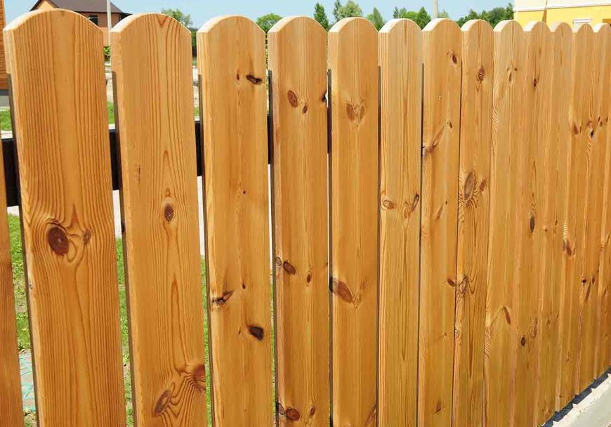 stylish wood fence