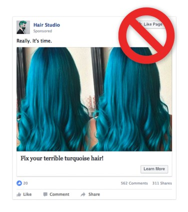 """Image depicting discriminatory content with the phrase """"fix your terrible turquoise hair"""""""