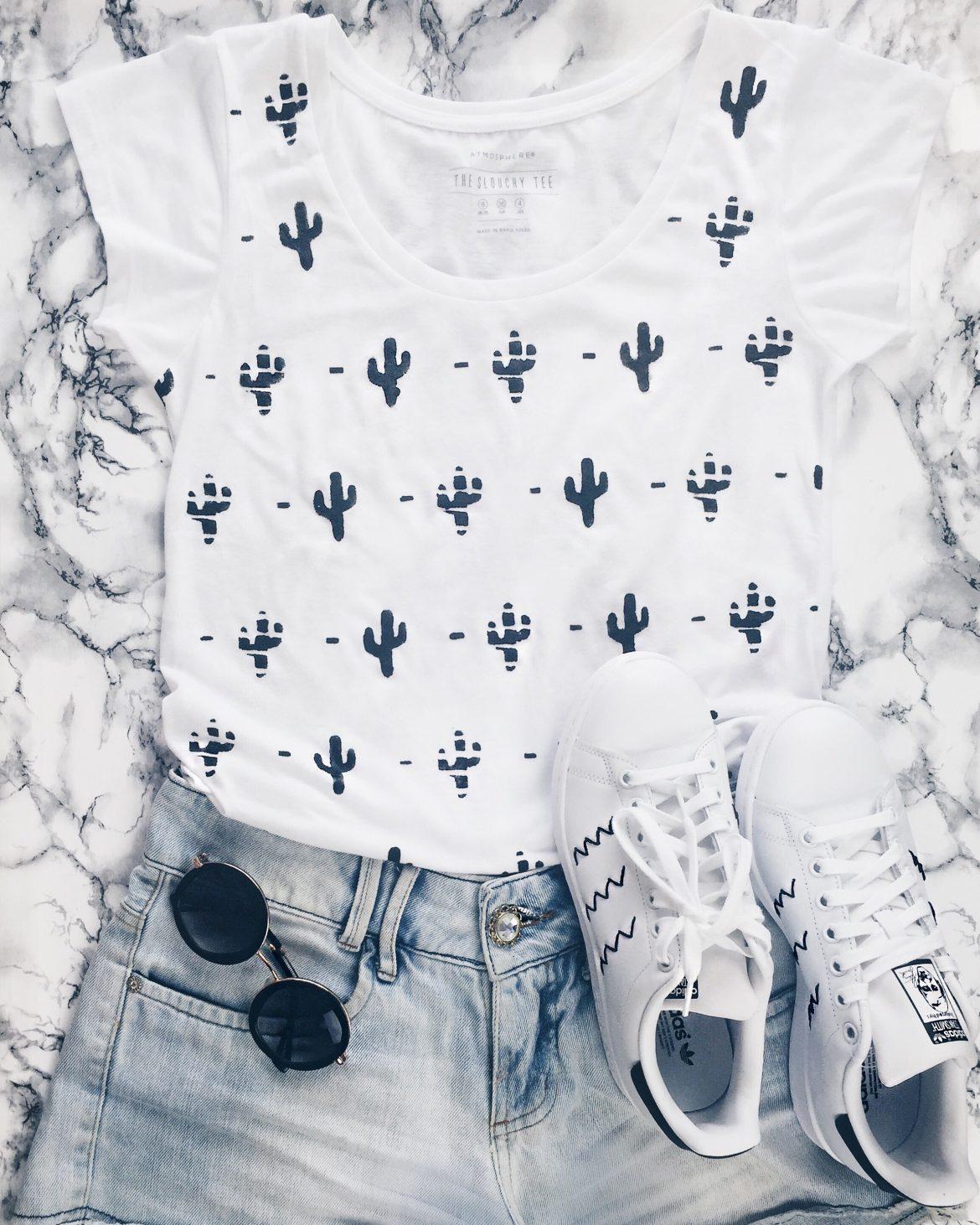 blusa de cactos