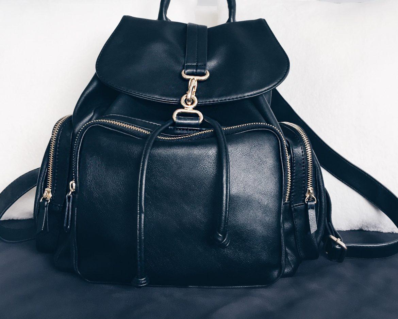 topshop bolsa mochila de couro sintético