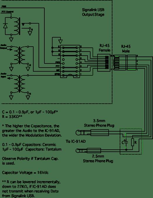 Rj 31 X Wiring Diagram Ic 91ad To Signalink Usb Configuration