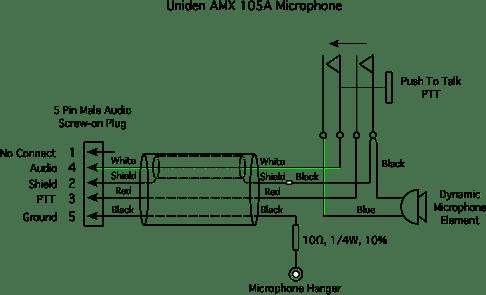 Uniden AMX 105A Microphone
