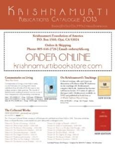 Krishnamurti Publication Catalogue