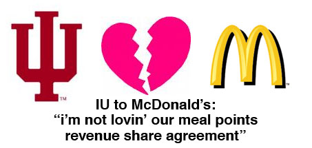 i'm not lovin' our meal points revenue share agreement