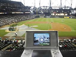 nintendo ds at a baseball game(AP)