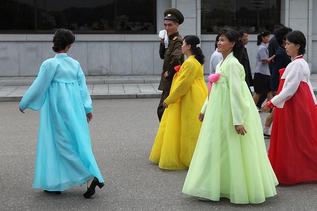 Vestidos tradicionales de Corea.