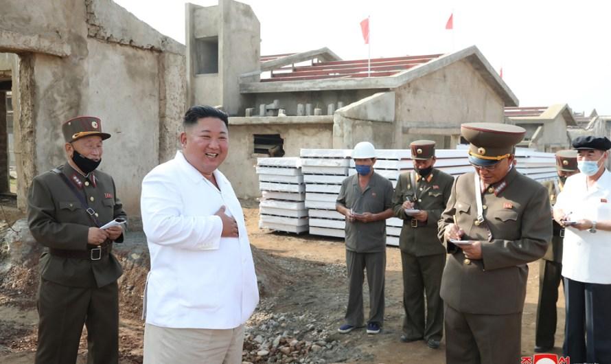 Visita a granja avícola en construcción