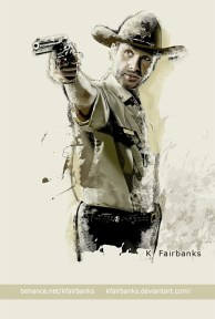 Andrew Lincoln as Rick Grimes digital painting by K. Fairbanks