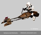 Biker Scout on Bike drawing by K. Fairbanks