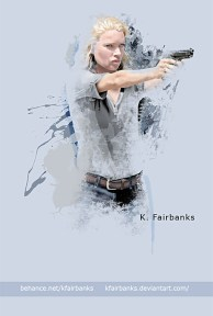 Laurie Holden as Andrea digital painting by K. Fairbanks