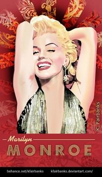 Marilyn Monroe as Lorelei Lee digital drawing by K. Fairbanks