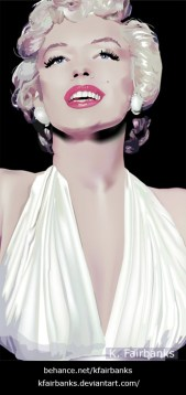 Marilyn Monroe in The Seven Year Itch digital drawing by K. Fairbanks