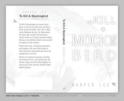 To Kill A Mockingbird book cover design by K. Fairbanks