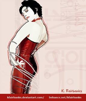 Siouxsie Siouxsie vector drawing by K. Fairbanks