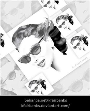 Sunglasses Portrait Montage - a digital painting by K. Fairbanks