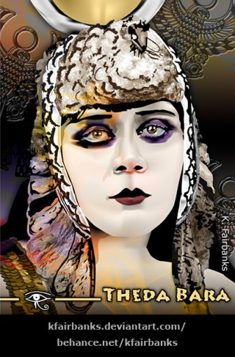 Theda Bara digital drawing by K Fairbanks