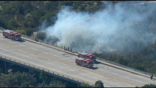 Crews make quick work of brush fire in Otay Mesa West