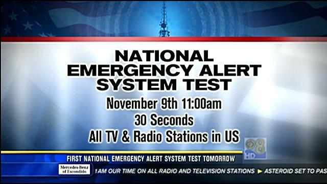 First National Emergency Alert System Test Wedensday Cbs