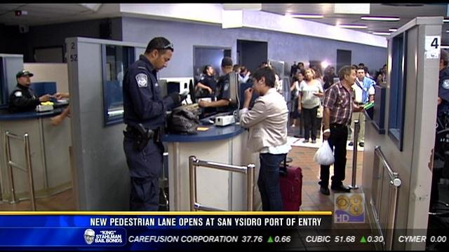 New pedestrian lane opens at San Ysidro Port of Entry