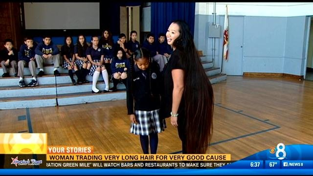 Woman Trading Very Long Hair For Very Good Cause CBS