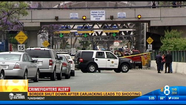 Border shut down after carjacking leads to shooting  CBS