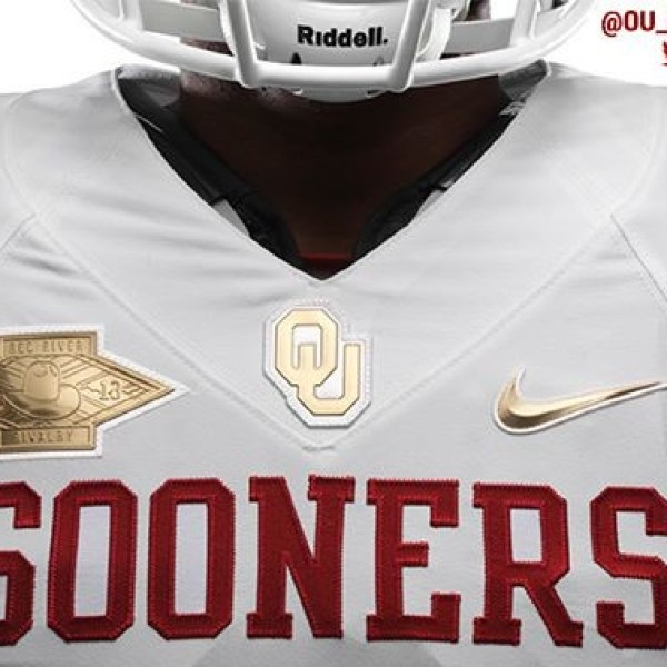 Courtesy: SoonerSports.com OU Red River Rivalry Uniforms by Nike.