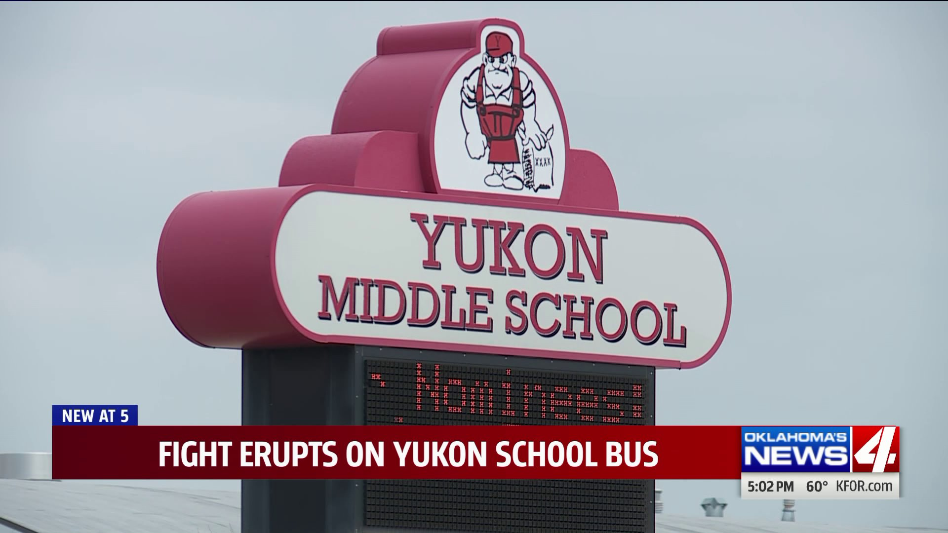 Yukon middle school sign