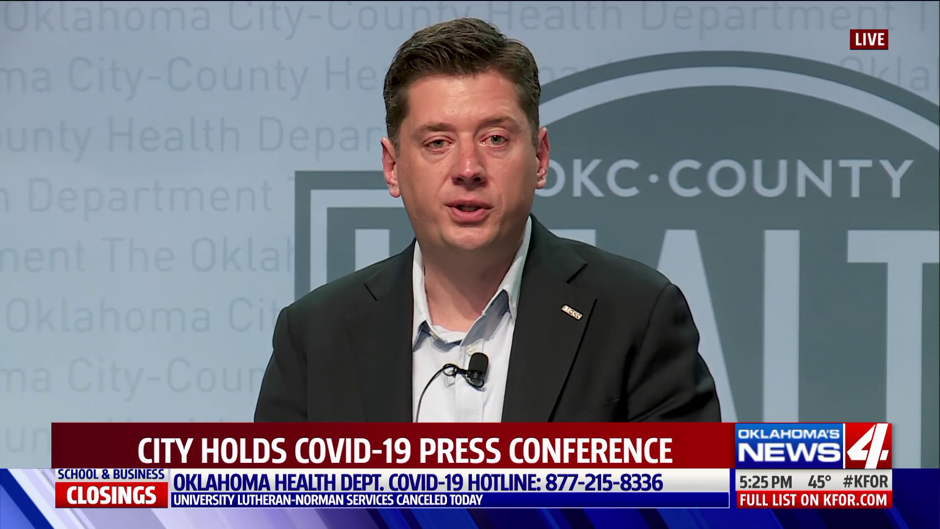 David Holt holds press conference on COVID-19