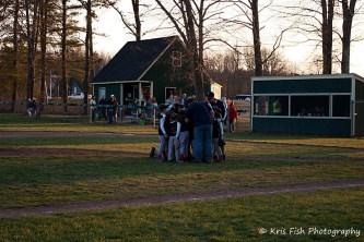 Celebration at the mound
