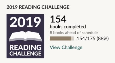 Goodreads Reading Challenge October 2019
