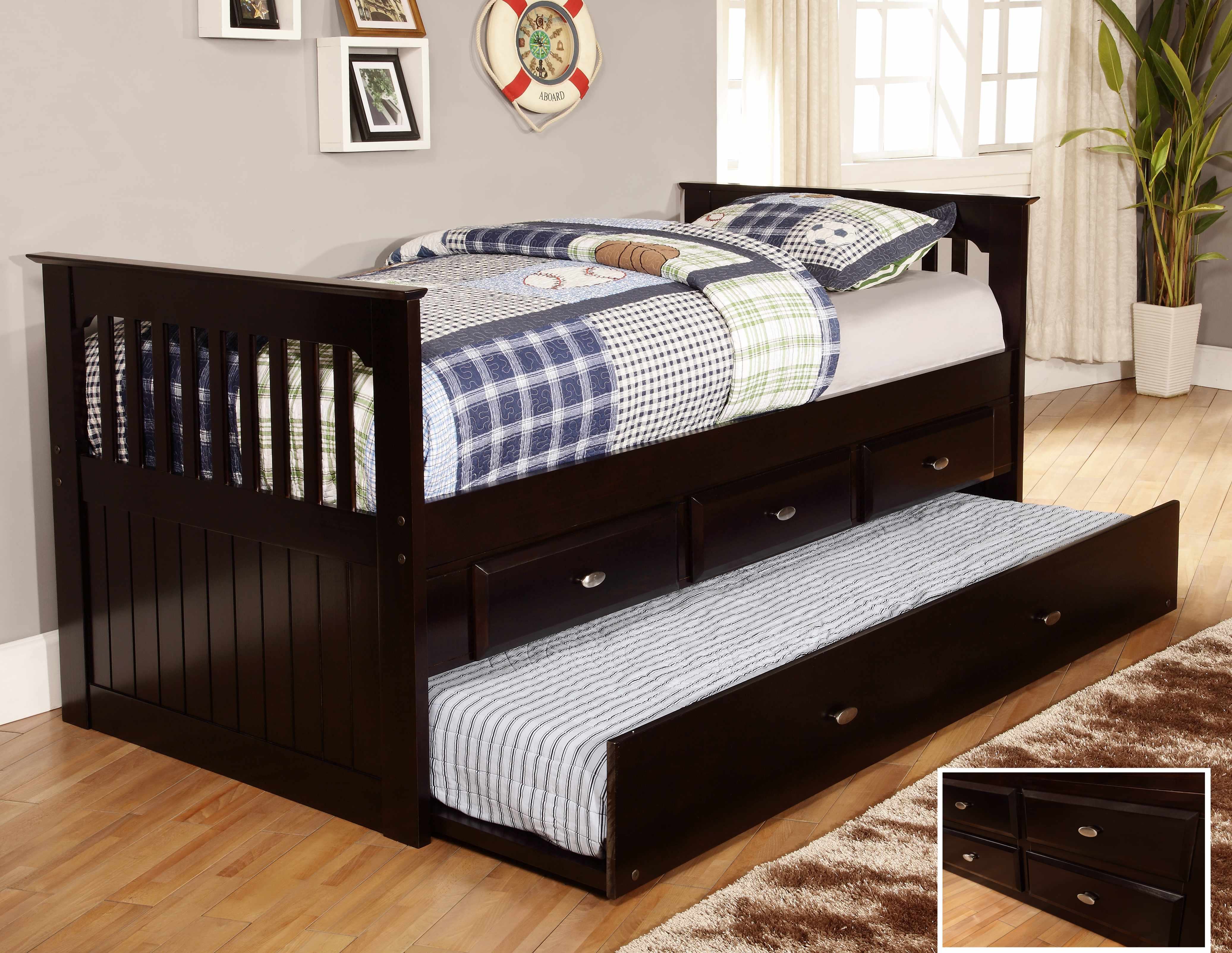 Discovery World Furniture Espresso Day Beds With Drawers Or Trundle Kfs Stores