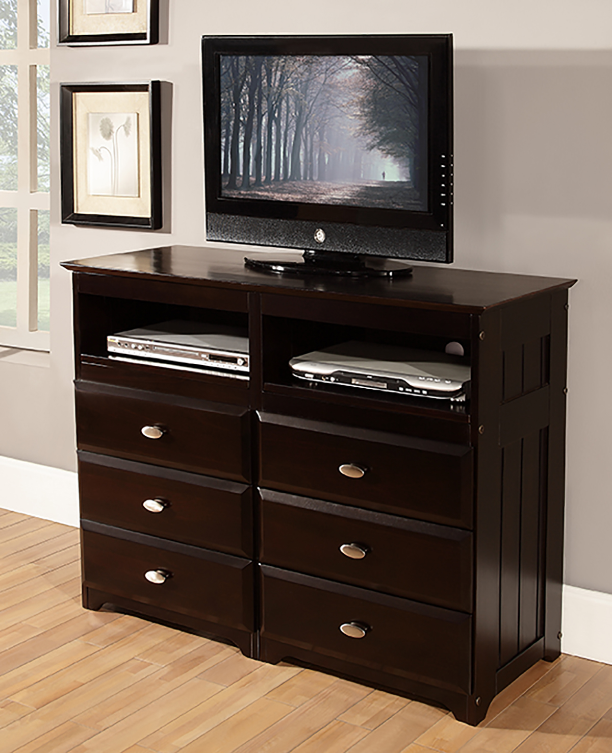 Discovery World Furniture Espresso Media Chest  KFS STORES