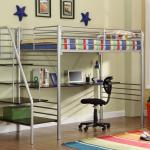 Donco Silver Metal Bunk Beds With Desk And Stairs Kfs Stores