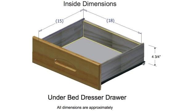 Under Bed Drawer Dimensions Standard