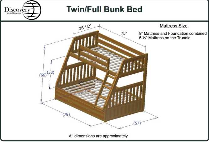 Discovery World Furniture Twin Over Full Merlot Mission Bunk Beds