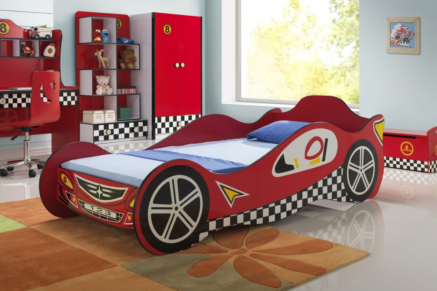 Red Race Car Beds For Kids Kfs Stores