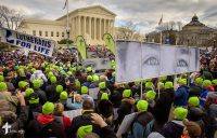 Lutherans gather in front of the U.S. Supreme Court following the March for Life 2017 on Friday, Jan. 27, 2017, in Washington, D.C. LCMS Communications/Erik M. Lunsford