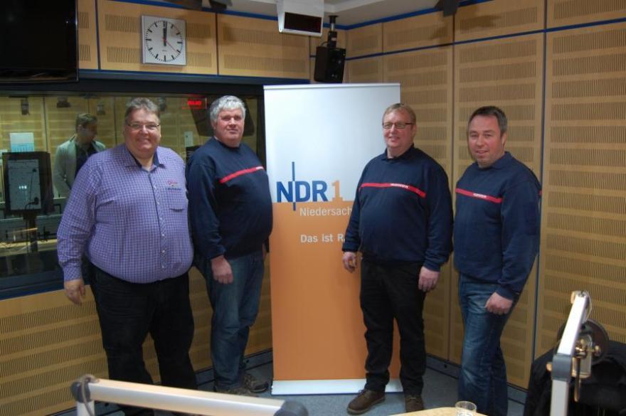 Ortsfeuerwehr Bröckel besucht den NDR in Hannover