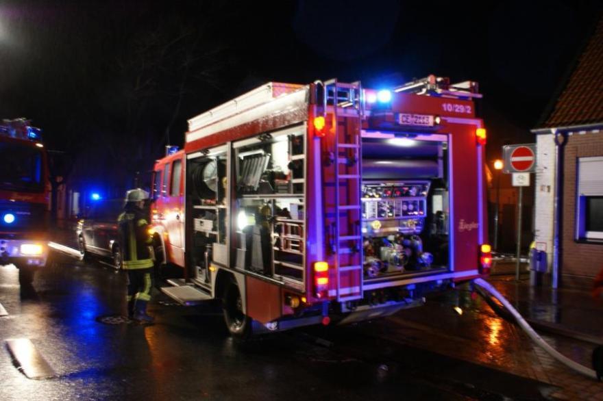 Feuer in Gebäude in der Neustadt