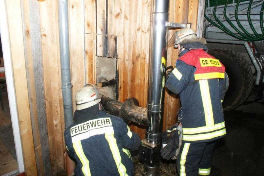 Gemeldeter Scheunenbrand in Klein Hehlen