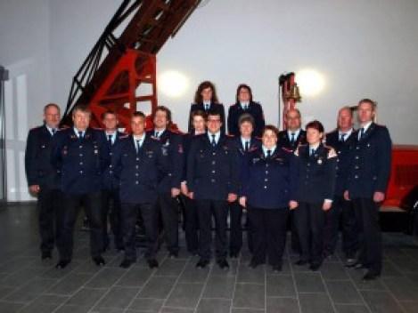 Gruppenfoto der Musikstabführer im Jahr 2013 in der Hauptwache in Celle