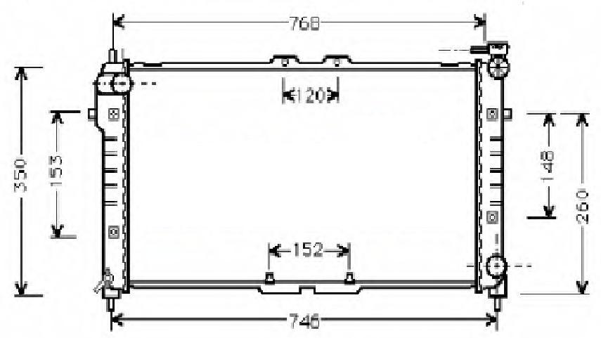 KÜHLER, Wasserkühler, Mazda MX 6, Mazda 626-PÜMZ 027