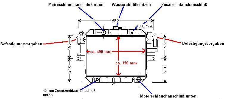 KÜHLER, Wasserkühler, Daihatsu Feroza (F300) 1,6 L 16 V