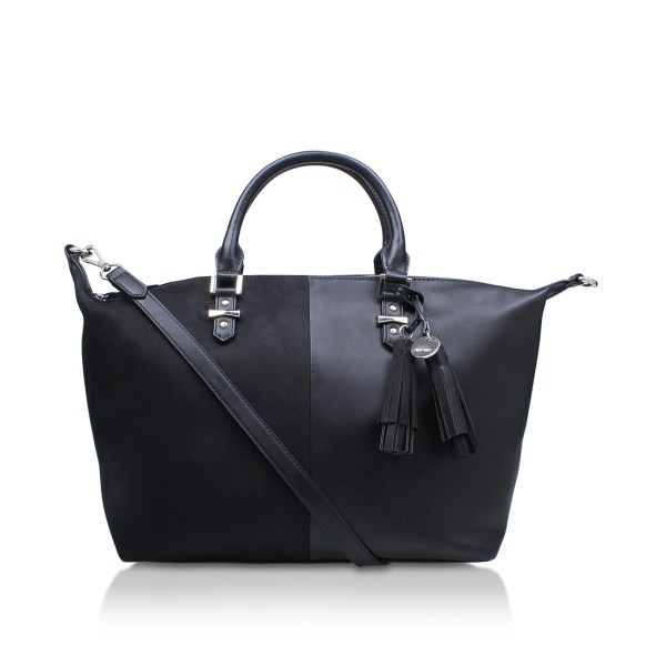 Face Satchel Nine West Black Tote
